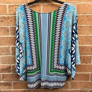 Chicos Flowy Colorful Blouse Chicos 1 (8)